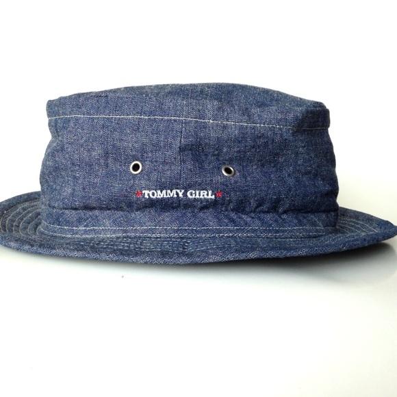 d2241cbac3a Vtg 90 s Tommy Hilfiger Tommy Girl bucket hat! M 5b5e47a8b6a942045a1d4664